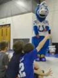 Colts mascot inspires pride, joy for Croninger students