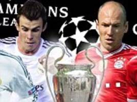 Real Madrid vs Bayern Munich - live Champions League