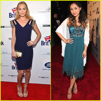 laura vandervoort & jessica sanchez: britweek launch party 2014
