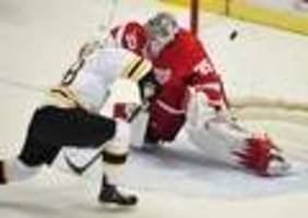 Bruins rattle Red Wings by showing how they got to Stanley Cup Finals